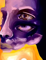 Purple face 3